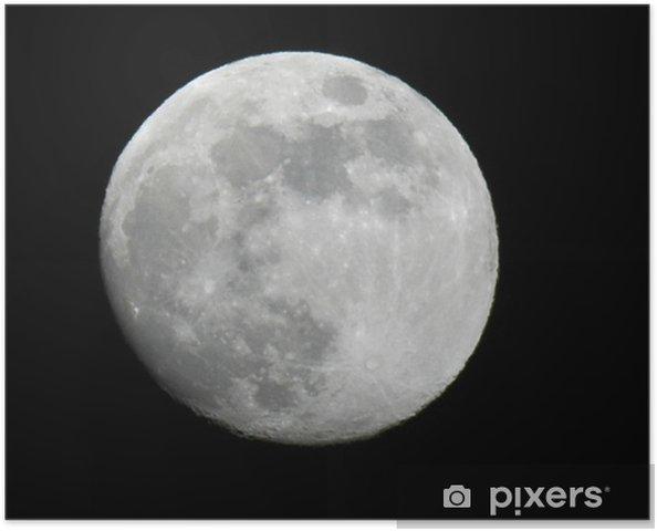 Poster Pleine lune... - Espace