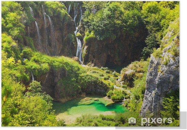Plitvice lakes in Croatia Poster - Themes