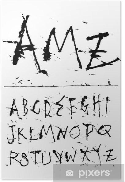 Poster Police encre d'écriture à la main - Thèmes