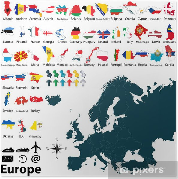Political Map Of Europe Poster Pixers We Live To Change