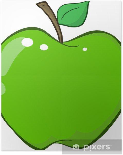 Poster Pomme verte - Fruits
