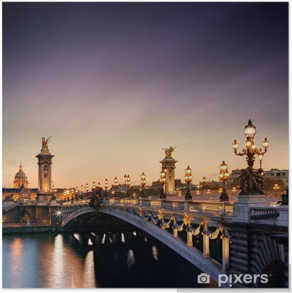 Poster Pont Alexandre III à Paris -