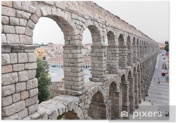 Poster Pont-aqueduc romain de Ségovie, premier siècle de notre ère. - Europe