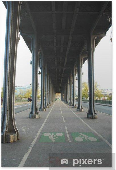 Pont De Bir Hakeim Vecchio Pont Di Passy Parigi Francia Poster
