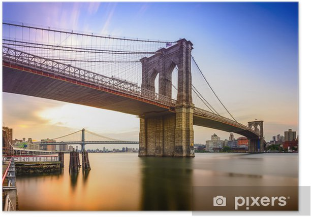 Poster Pont de Brooklyn, New York City, USA - Amérique du Nord