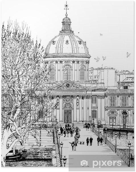 Poster Pont des arts in Paris - Pour salle à manger