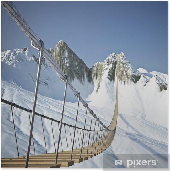 Poster Pont suspendu dans les montagnes - Autres sentiments