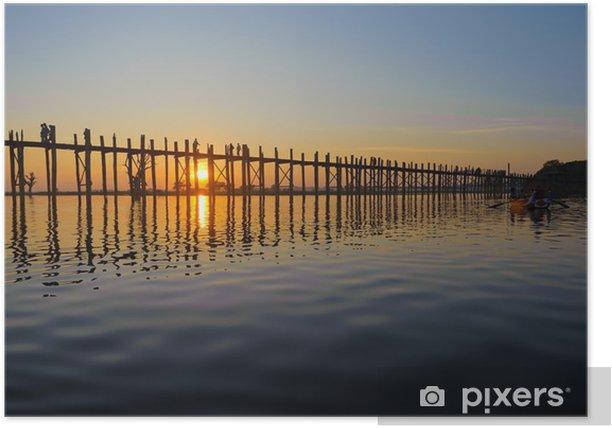 Poster Pont U Bein, Mandalay, Myanmar - Asie