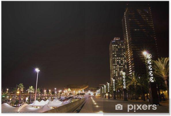 Poster Port de Barcelone par nuit - Thèmes