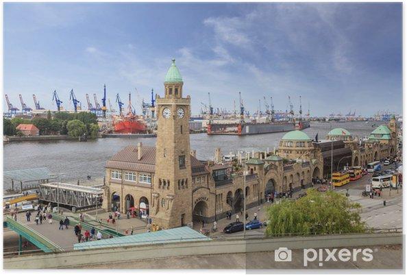 Poster Port de Hambourg, Allemagne - Allemagne