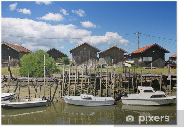 Port ostréicole et cabanes de pêcheurs Poster - Outdoor Sports