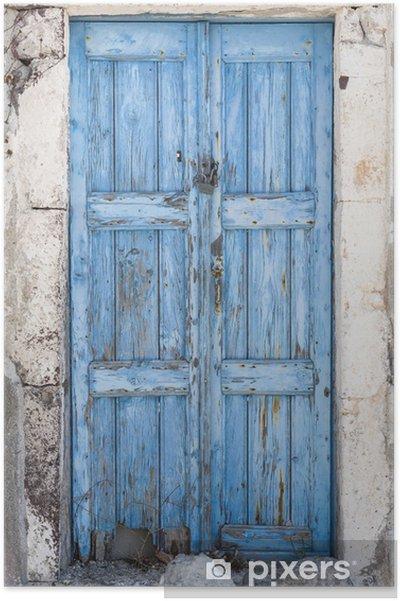 Poster Porte bleue - Propriétés privées