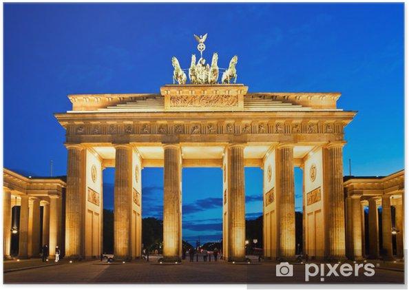 Poster Porte de Brandebourg à Berlin - Berlin