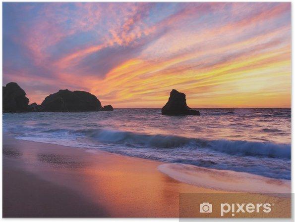 Poster Porthcothan Bay Sunset - Thema's