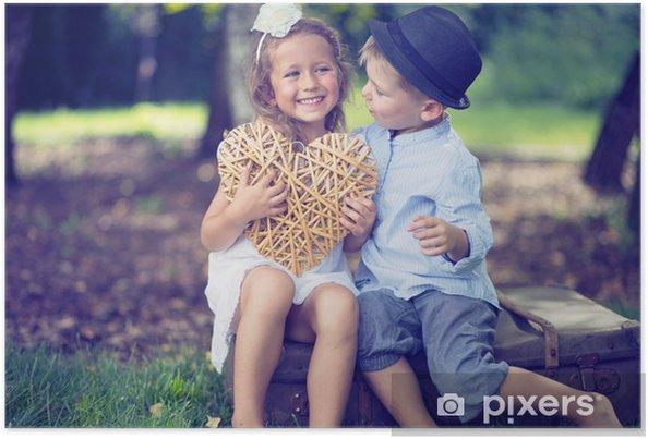 Poster Portrait d'un couple mignon des petits enfants - Enfants