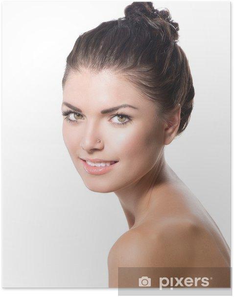 Poster Portrait de beauté. Belle Spa Girl Face. Peau douce parfaite - Beauté et soins du corps
