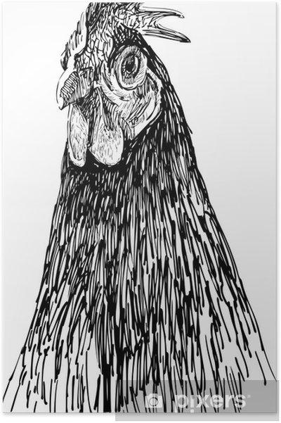 Poster Portrait de poule - Thèmes