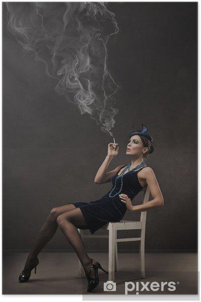 Poster Portrait de style rétro Vogue - 30s dame - Femmes