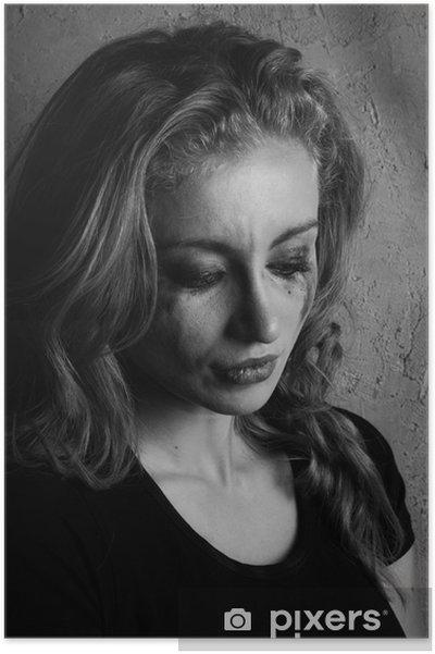 Fille Qui Pleure poster portrait émotionnel d'une jeune fille qui pleure • pixers