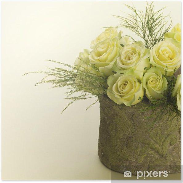Bloemen In Pot.Poster Pot Bloemen