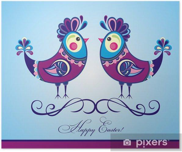Poster Poules de Pâques! - Fêtes internationales
