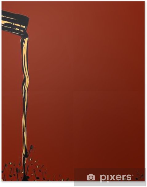 Pouring Musical Wine Poster - Drinks