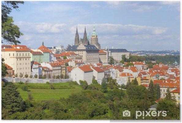 Poster Prague - Château de Hradcany et de la cathédrale Saint-Guy - Villes européennes
