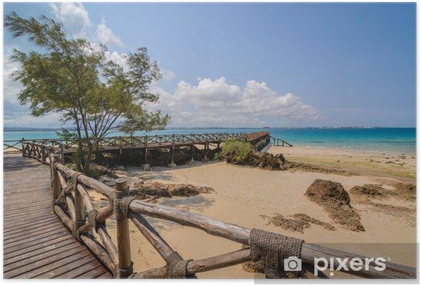 Poster Prison Zanzibar plage de l'île - Thèmes