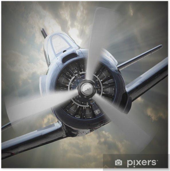 Poster Propellervliegtuig. - Thema's