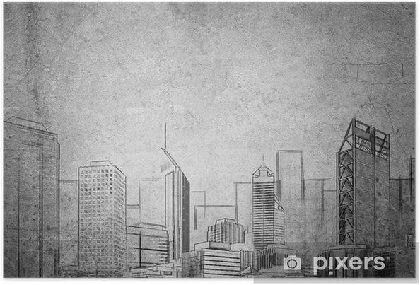 Póster Proyecto de desarrollo urbano - Industria