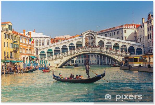 Póster Puente de Rialto en Venecia. - Temas
