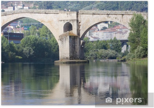 Poster Puente romano, Orense, Galice, Espagne - Paysages urbains