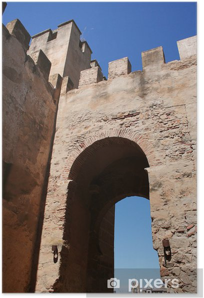puerta del capitel. muralla arabe de badajoz Poster - Monuments