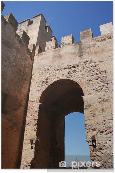 Póster Puerta del capitel. muralla arabe de badajoz - Monumentos