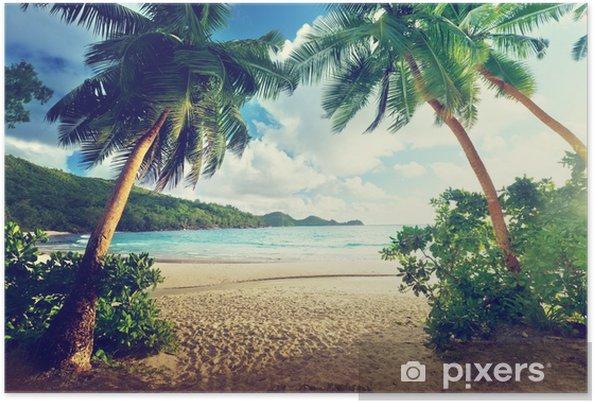 Póster Puesta de sol en la playa, la isla de Mahe, Seychelles - Temas