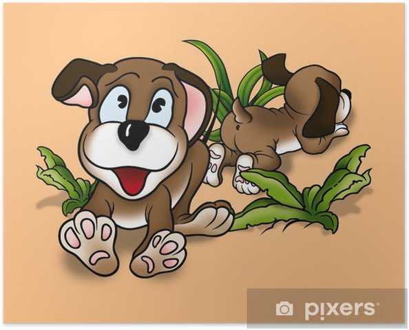 Image of: Clip Art Poster Puppy Dogs Cartoon Achtergrond Afbeelding Pixers Poster Puppy Dogs Cartoon Achtergrond Afbeelding Pixers We