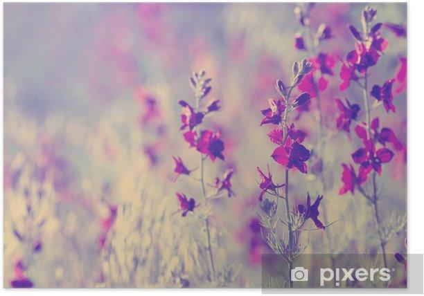 purple wild flowers Poster - Flowers