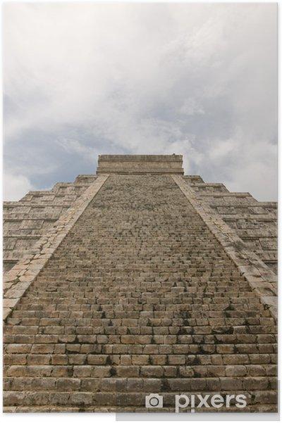 Poster Pyramide de Kukulkan, Ruines mayas de Chichen-Itza au Mexique - Amérique