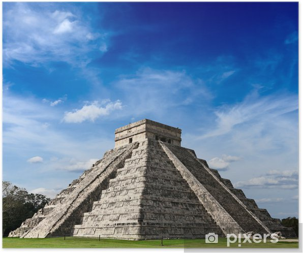 Poster Pyramide maya à Chichen Itza, Mexique - Thèmes
