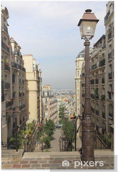 Quartier Montmartre à Paris Poster - Europe