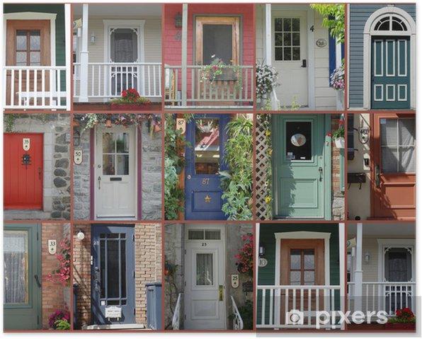 Québec and Montreal City Canada Amérique de Nord Poster - Urban