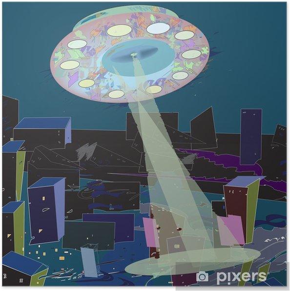 Póster Radiante UFO - Medio ambiente