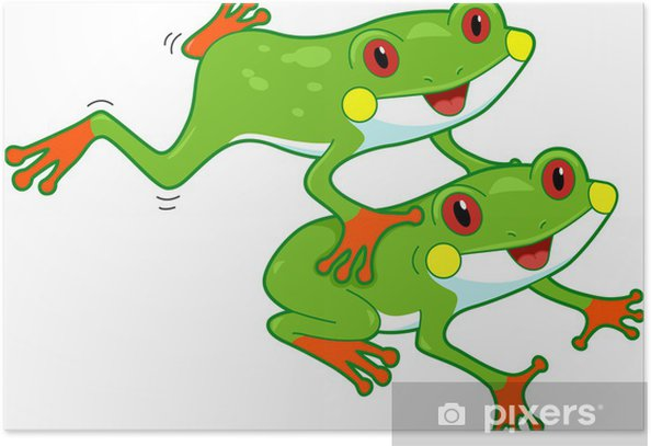 Poster Rainforest grenouille - Autres Autres