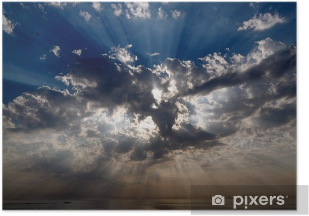 Poster Rayons célestes - Ciel