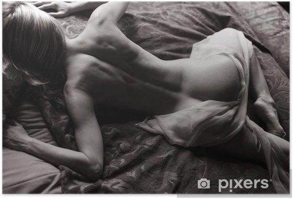 Póster Reclinada desnuda - Desnudos femeninos