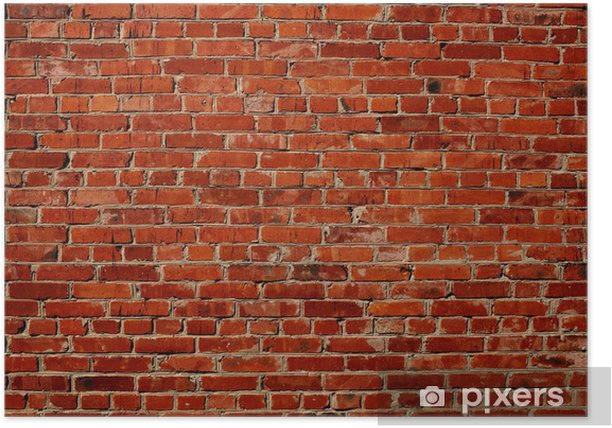 Red brick wall Poster -