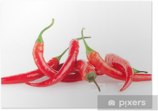 Poster Red chili peppers - Légumes