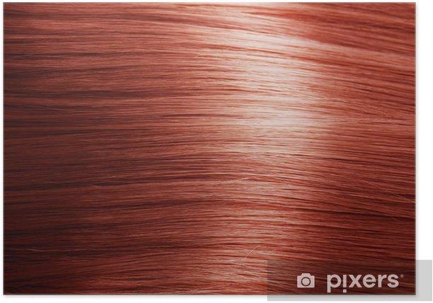 Poster Red texture de cheveux - Mode