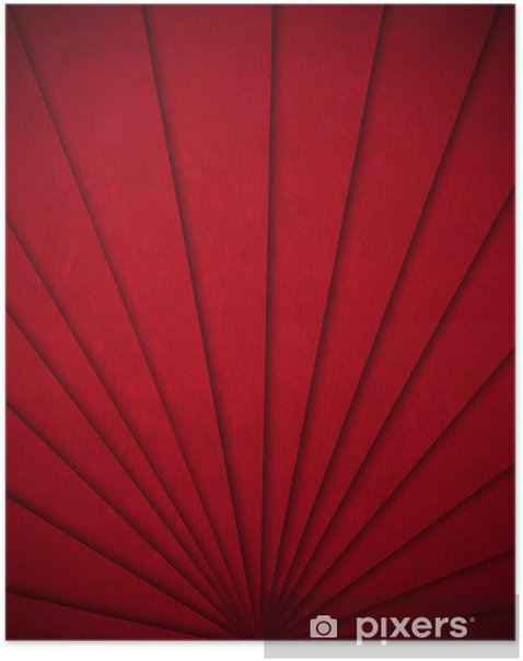 Red Velvet Abstract Background Poster - Success and Achievement