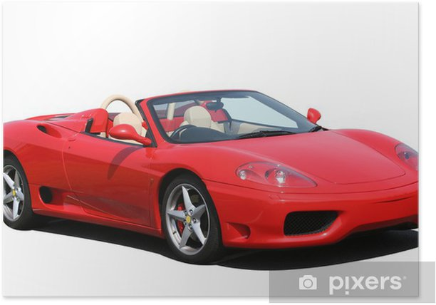 Poster Red voiture sport décapotable - Réussite